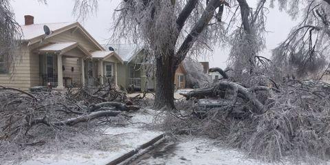 Ice Storm 2017 in Dodge City, Kansas