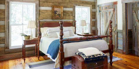 wood cabin cedar chest