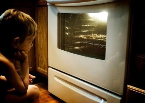 Toddler, Snapshot, Baby, Varnish, Wood flooring, Curious,