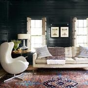 black shiplap living room