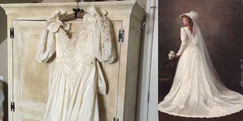 Sleeve, Textile, Formal wear, Dress, Clothes hanger, Fashion, Bridal clothing, Bridal veil, Wedding dress, Gown,
