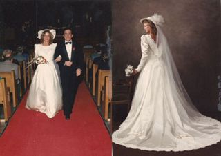 Shannon Mcnamara At Her 1986 Wedding In The Dress That Went Missing