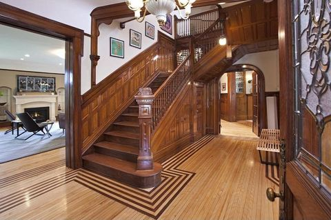 Wood, Floor, Lighting, Stairs, Hardwood, Interior design, Flooring, Room, Property, Wood flooring,