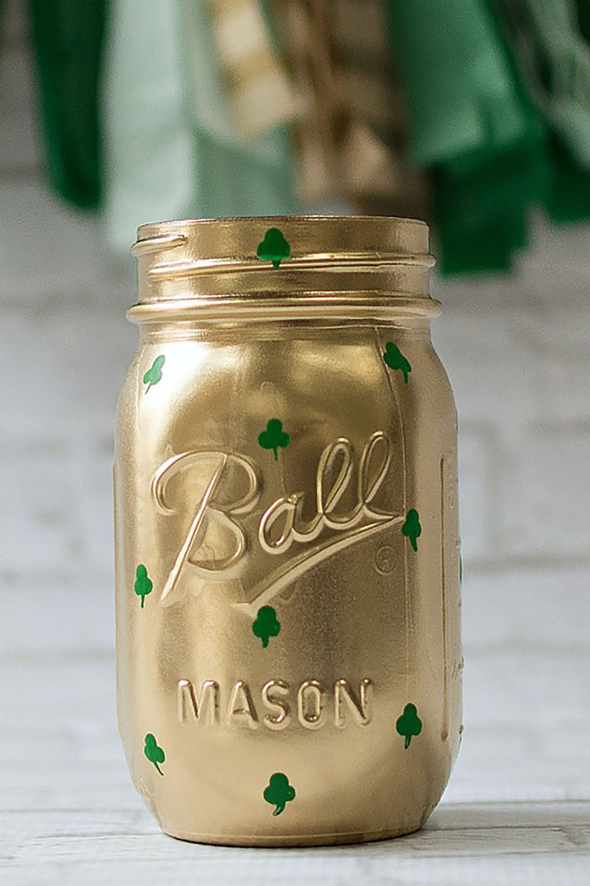 shamrock mason jar craft
