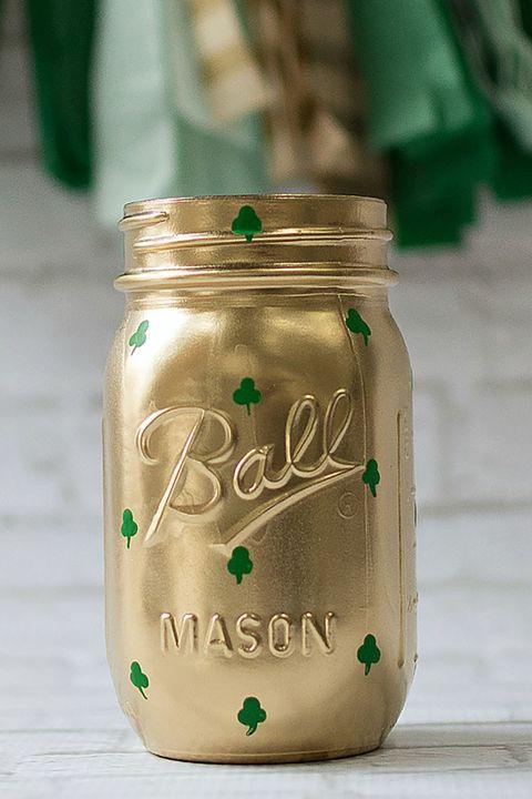 shamrock mason jar craft