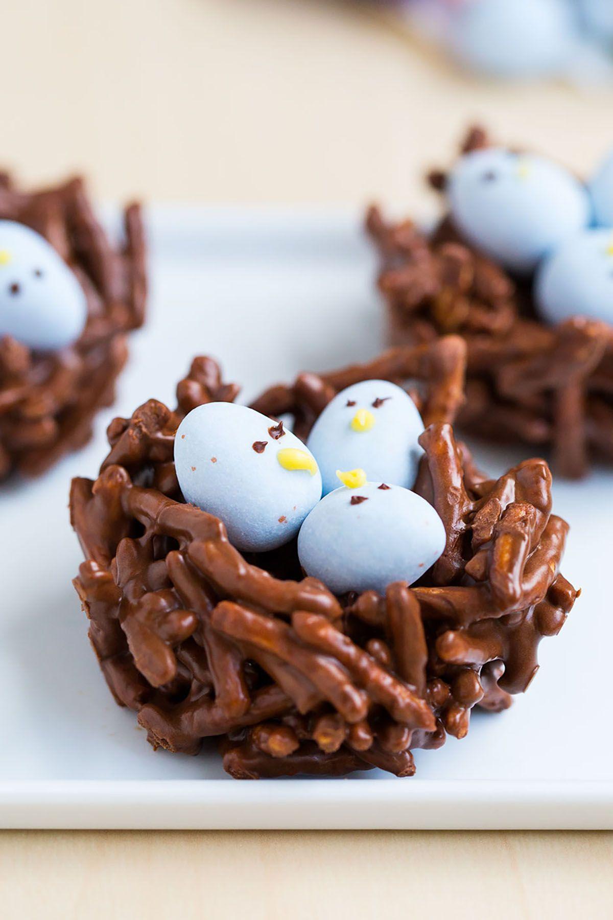 chocolate egg nest candy
