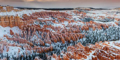 Winter, Natural landscape, Freezing, Snow, Badlands, Tundra, Ice cap, Frost, National park, Precipitation,