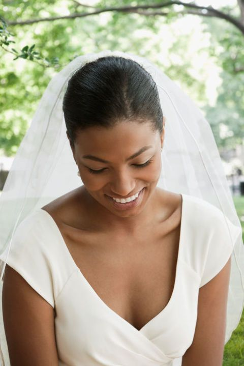 Southern wedding tradition, bridal portrait