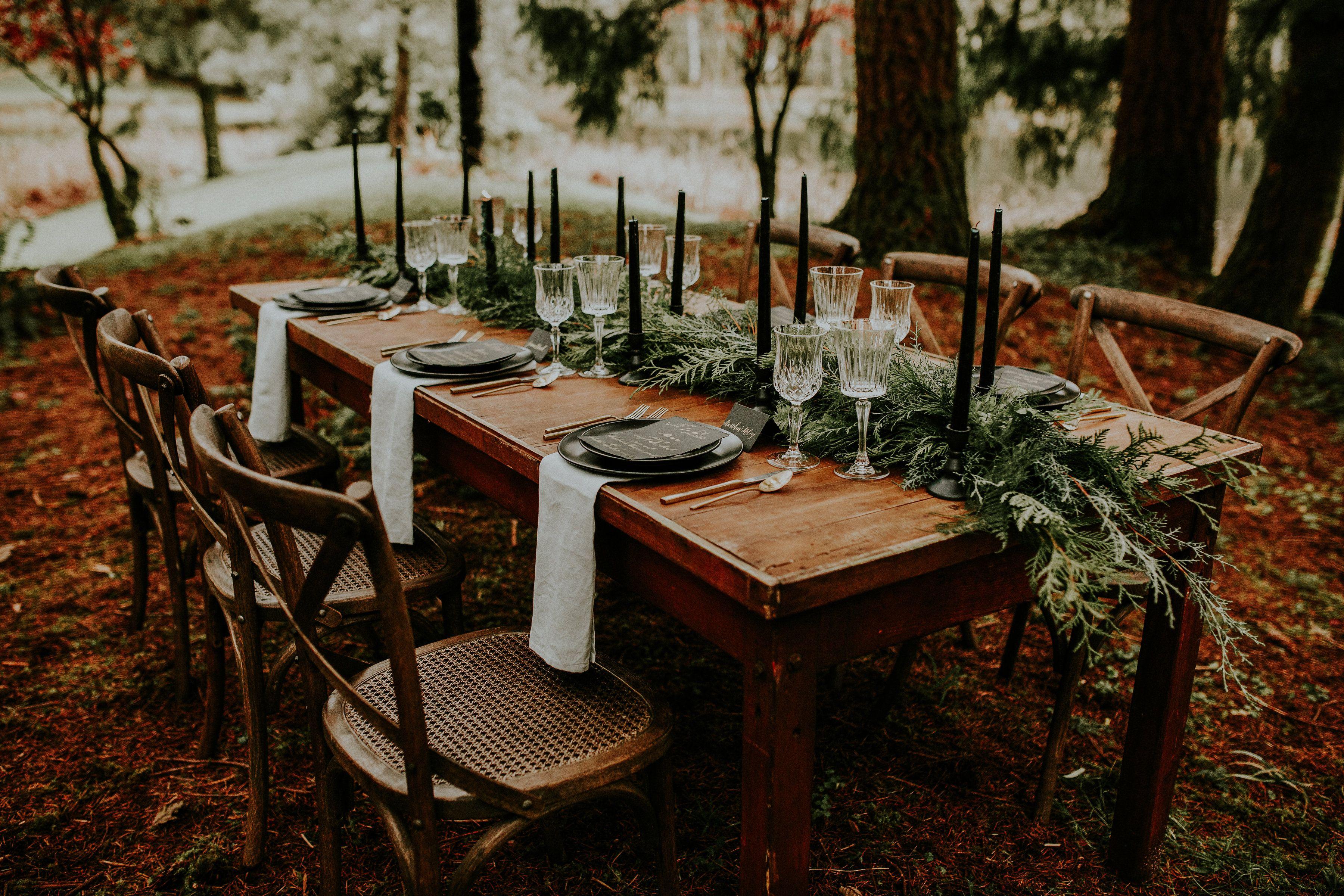 Traditional Wedding Table Setting A North Carolina