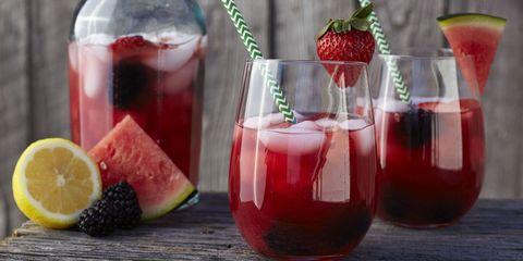 Liquid, Drink, Produce, Ingredient, Alcoholic beverage, Red, Juice, Fruit, Glass, Tableware,
