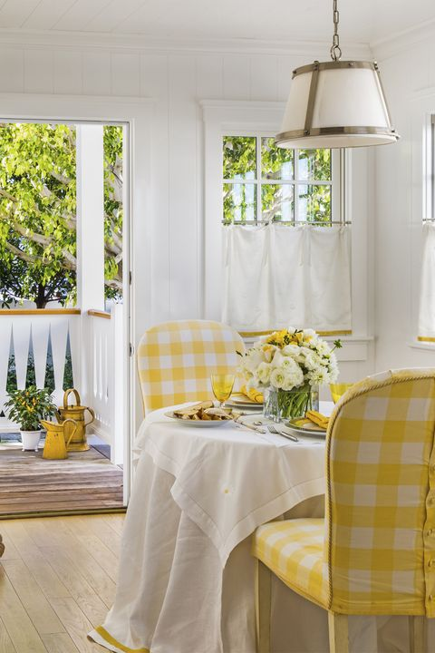 Tablecloth, Yellow, Room, Interior design, Textile, Lampshade, Table, Furniture, Light fixture, Interior design,