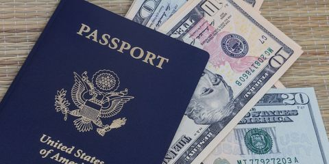 United states passport, Chin, Identity document, Paper product, Passport, Banknote, Paper, Money, Cash, Currency,