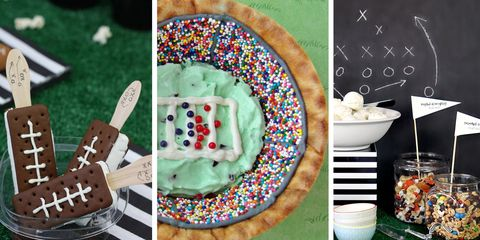 super bowl sundae ice cream bar idea