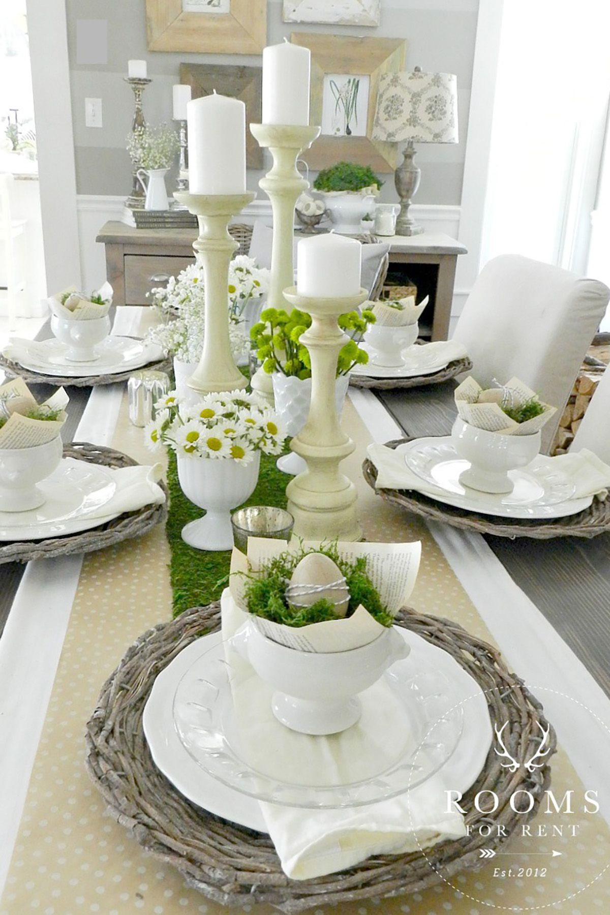 & 40+ Easter Table Decorations - Centerpieces for Easter
