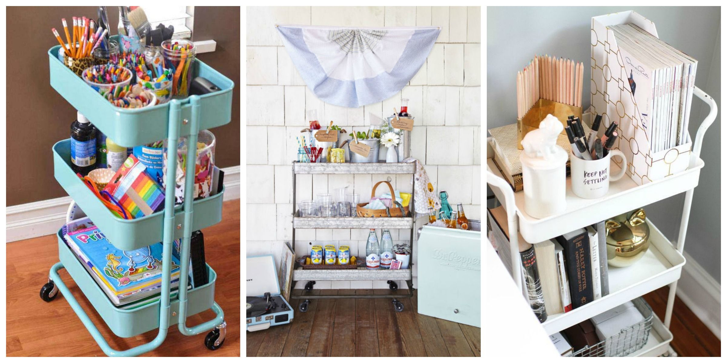 12 Clever Ways To Use Bar Carts That Have Nothing To Do With Alcohol Unique Bar Cart Uses