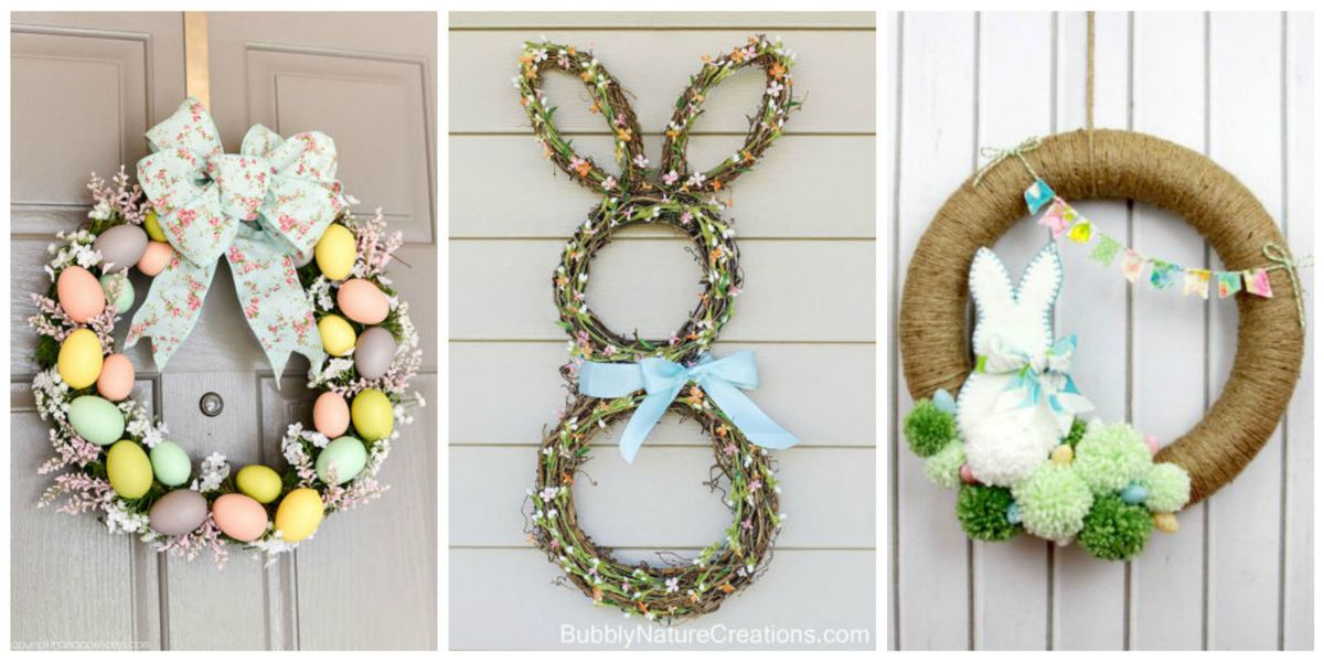 10 Diy Easter Wreath Ideas How To Make A Cute Easter