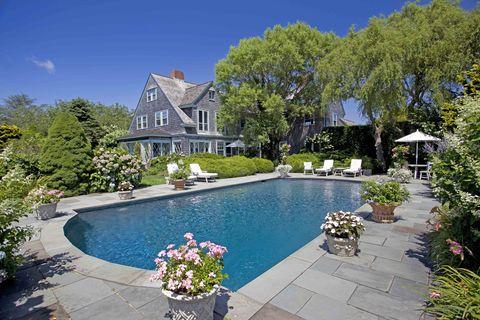 Plant, Property, Swimming pool, Landscape, Garden, Real estate, Residential area, Flowerpot, House, Resort,