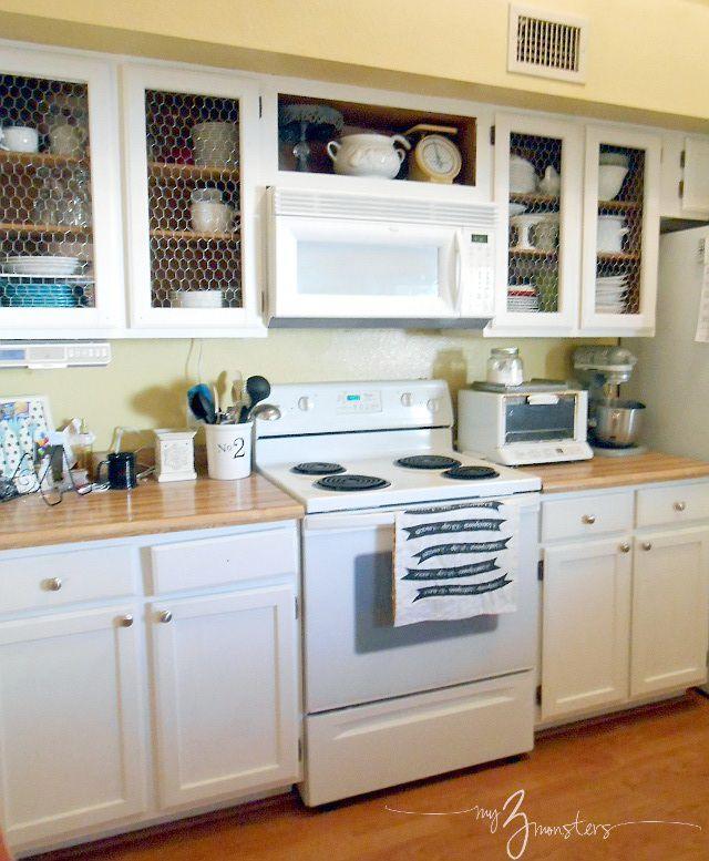 10 DIY Kitchen Cabinet Makeovers
