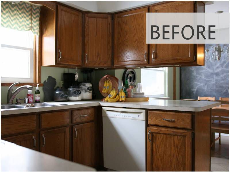 Diy Painted Kitchen Cabinets Before And After 10 diy kitchen cabinet makeovers - before & after photos that prove