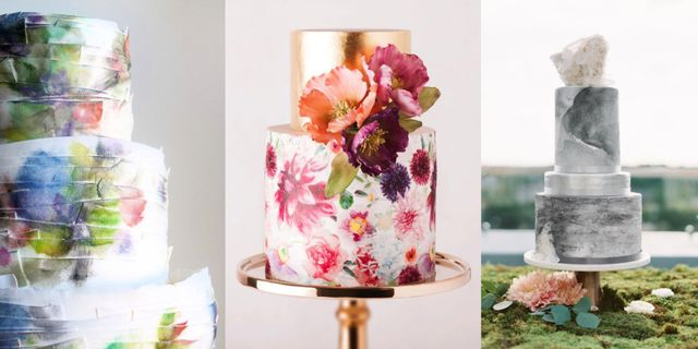 26 Watercolor Wedding Cakes That Will Take Your Breath Away