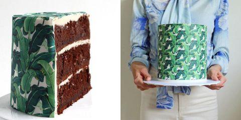 Edible Wallpaper Cake