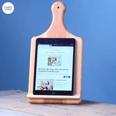 Diy Cutting Board Tablet Stand How To Make A Handy Cutting Board