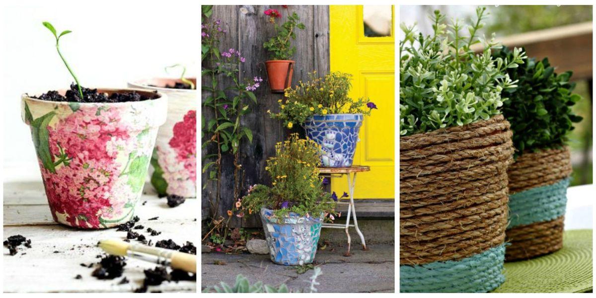 Diy Flower Pot Ideas, How To Make Outdoor Flower Pots