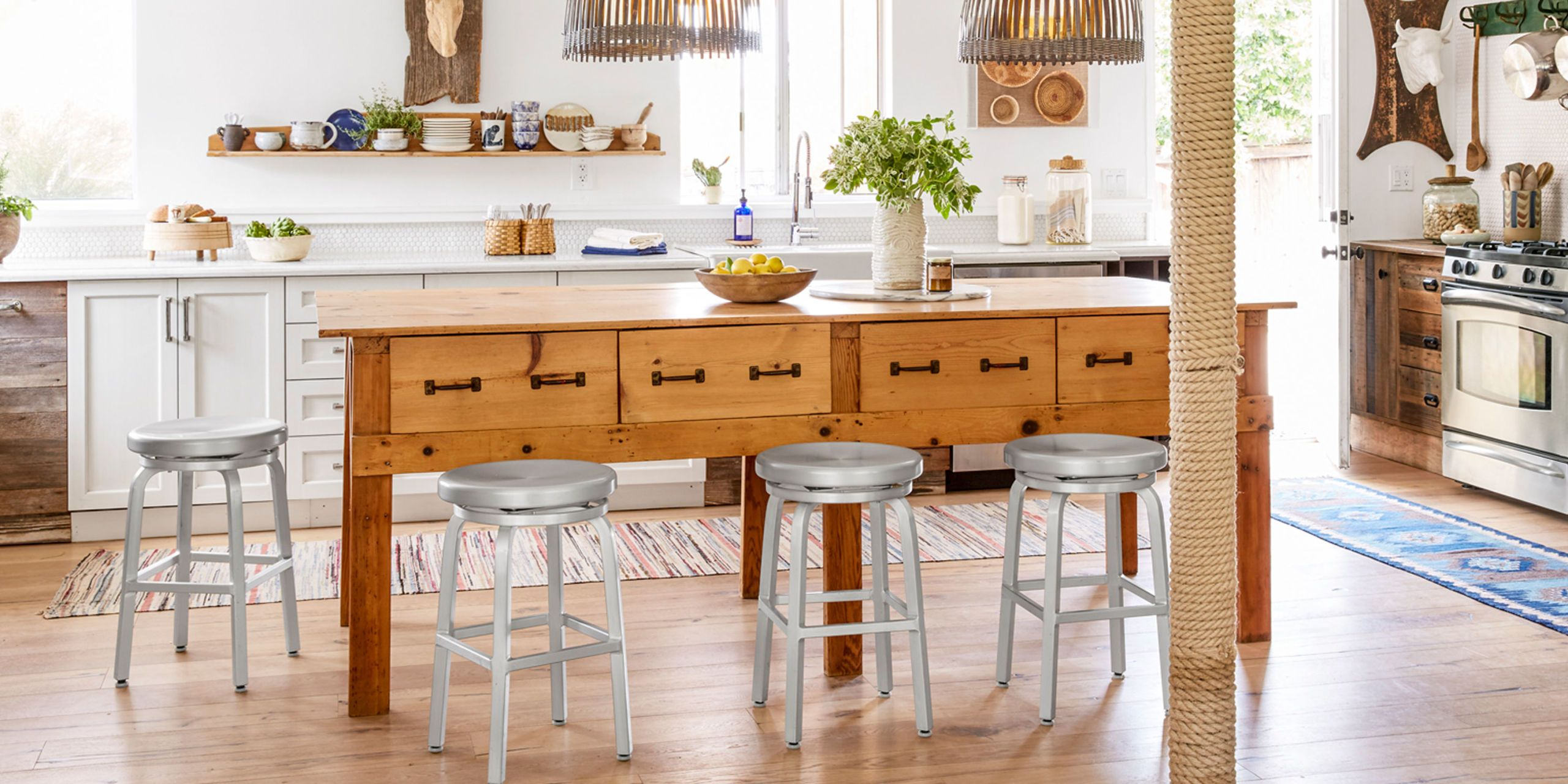 Add storage style and extra seating with a standalone kitchen island. & 50+ Best Kitchen Island Ideas - Stylish Designs for Kitchen Islands