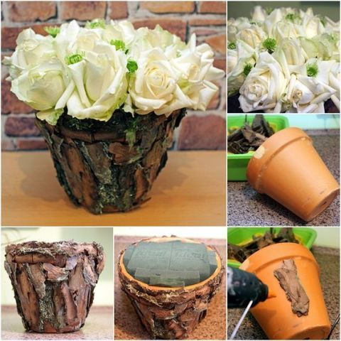 DIY Enthusiasts & 24 Seriously Pretty DIY Flower Pot Ideas - How to Decorate Planters