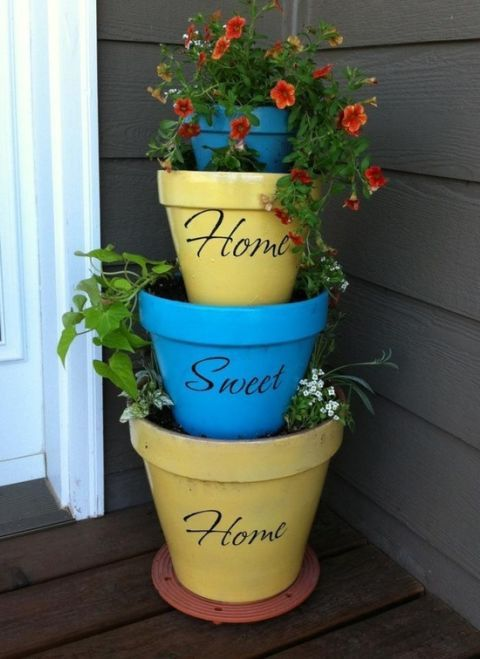 decorate a flower pot & 24 Seriously Pretty DIY Flower Pot Ideas - How to Decorate Planters