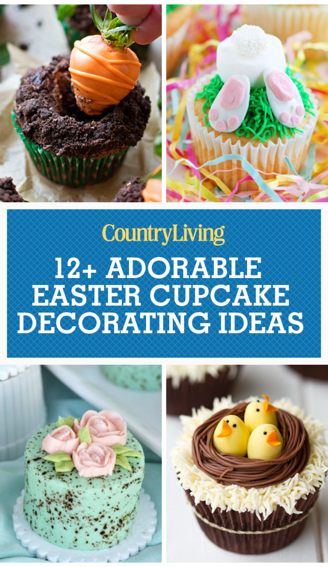 Save These Ideas  sc 1 st  Country Living Magazine & 16 Cute Easter Cupcake Ideas - Decorating u0026 Recipes for Easter Cupcakes