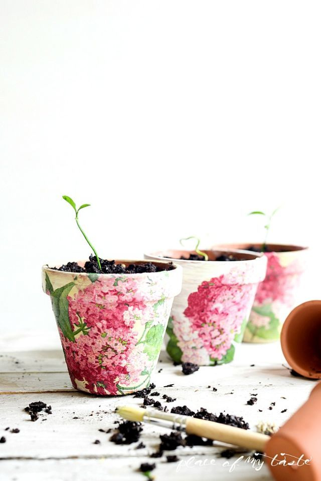 Sunflower garden Pot Patio Window Box Stencil mum Mother decorate paint card