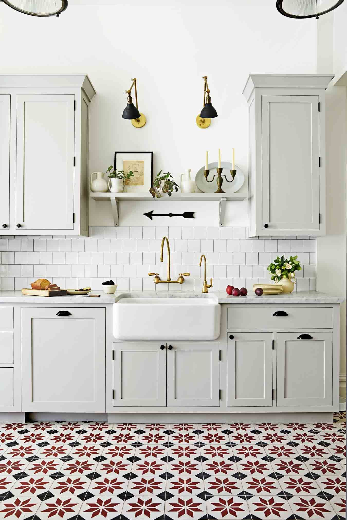 24 Best White Kitchens - Pictures of White Kitchen Design Ideas Ideas For Kitchen Cabinets White Tile Floor on ideas for white kitchen cabinets, ideas for white bathroom tile, ideas for white kitchen backsplash,