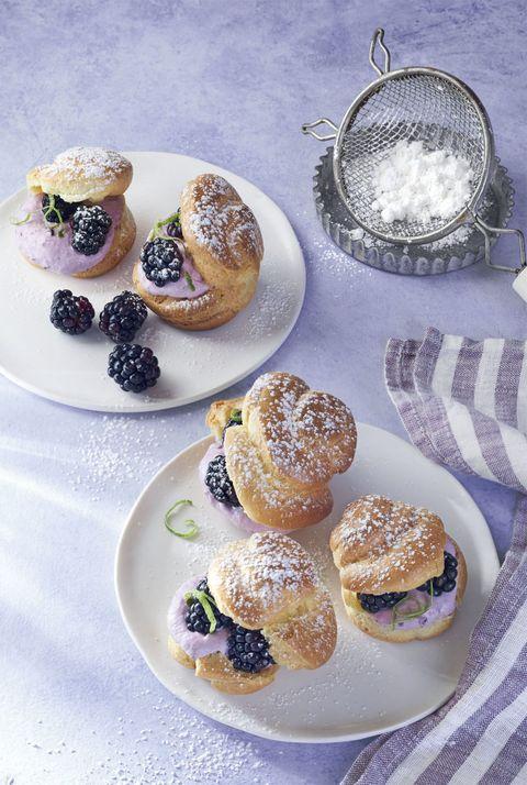blackberry lime puffs dessert