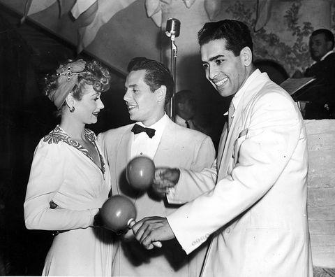 Lucy And Desi With Darryl Harpa Bandleader Of New York S Copacabana Nightclub Circa 1941