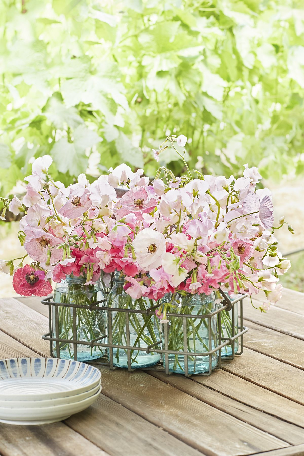 mason jar flower arrangements spring centerpiece
