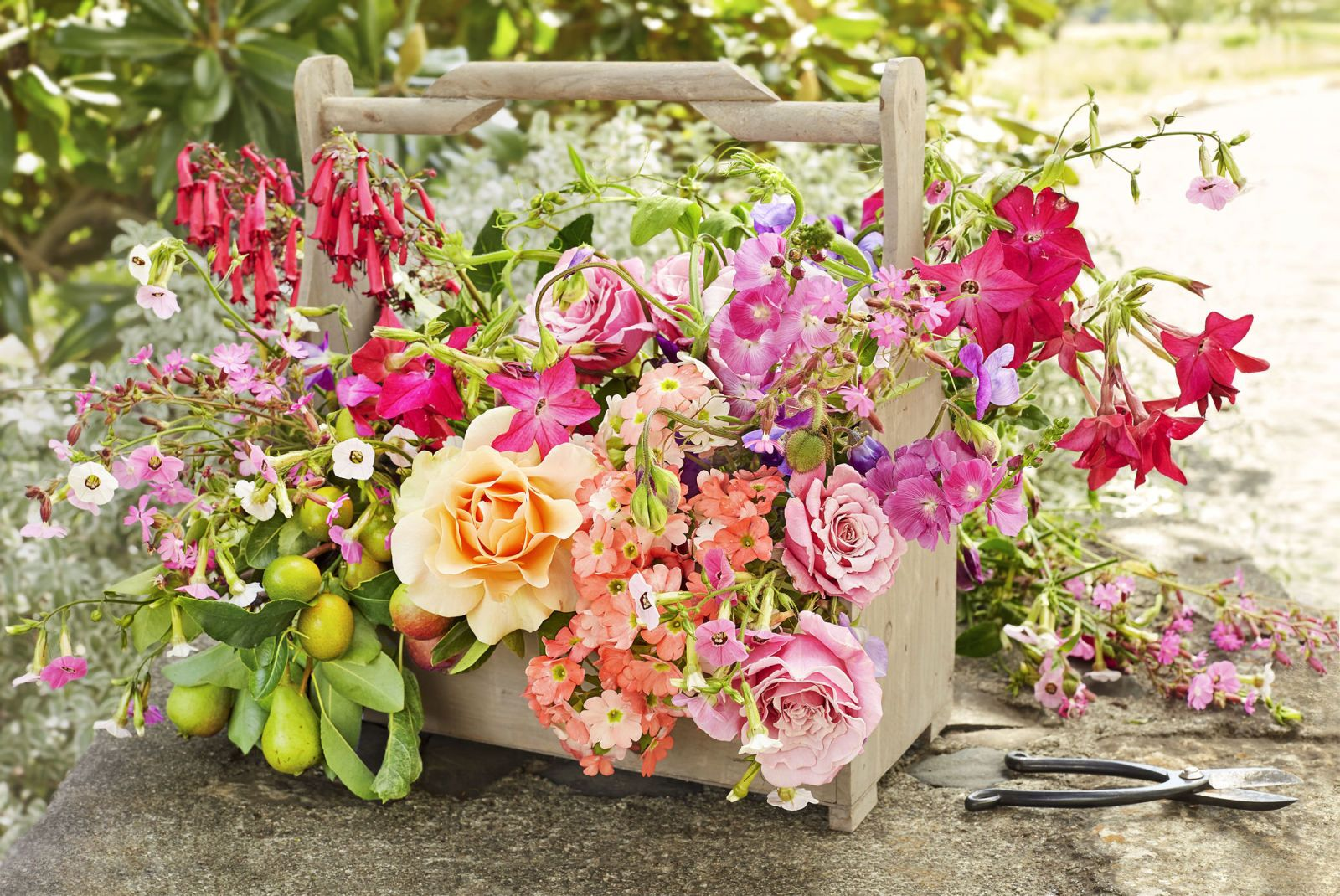 Wooden Toolbox Floral Arrangement