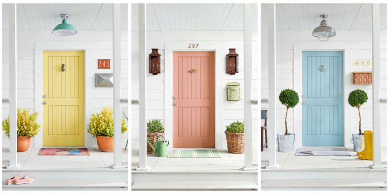 5 colorful themes for your front door front door for Home exterior makeover app