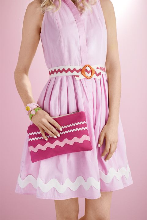 Clothing, Sleeve, Shoulder, Textile, Dress, Pink, One-piece garment, Style, Magenta, Day dress,