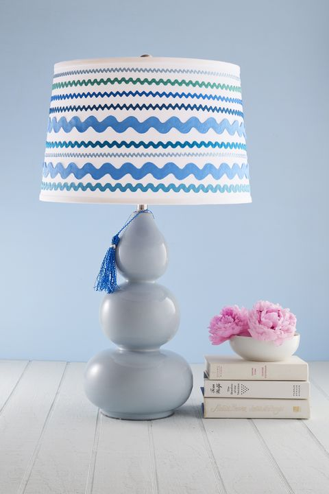 Blue, Lampshade, Pink, Lighting accessory, Lighting, Turquoise, Room, Lamp, Table, Textile,
