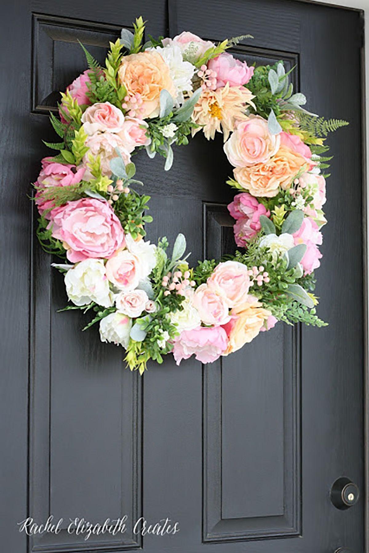 25 diy spring wreaths how to make a spring wreath yourself mightylinksfo