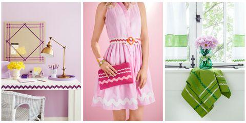 Textile, Pink, Dress, Pattern, Style, Magenta, Purple, Peach, Lavender, One-piece garment,