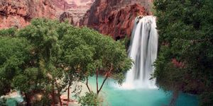 grand canyon secret waterfall