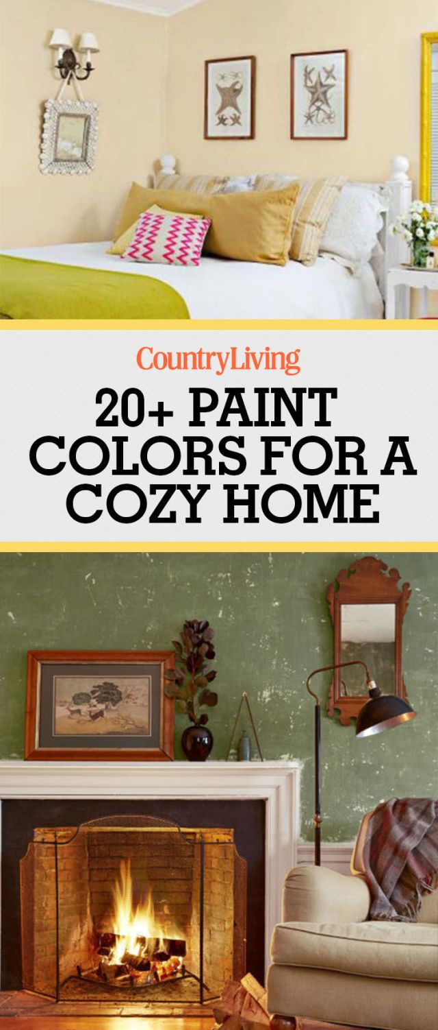 Pin these ideas! & 23 Warm Paint Colors - Cozy Color Schemes