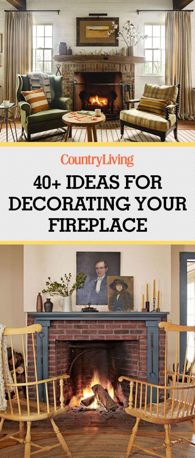 Pin these ideas! & 40+ Fireplace Design Ideas - Fireplace Mantel Decorating Ideas