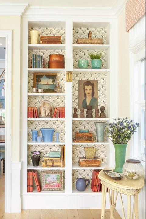 shelf, furniture, shelving, room, home, interior design, wall, living room, bookcase, house,