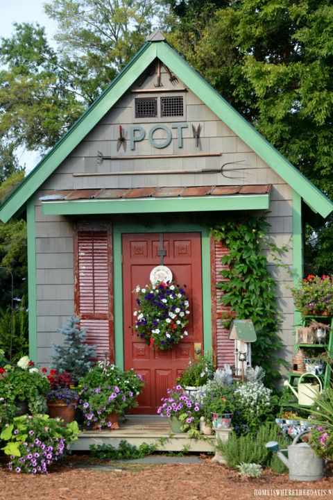 19 Whimsical Garden Shed Designs - Storage Shed Plans & Pictures