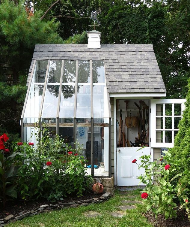 14 whimsical garden shed designs storage shed plans pictures - Garden Sheds With Greenhouse
