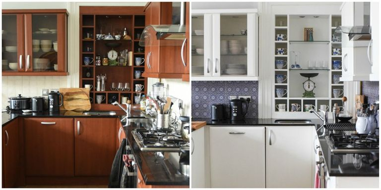 here 39 s what a 600 weekend kitchen renovation looks like. Black Bedroom Furniture Sets. Home Design Ideas