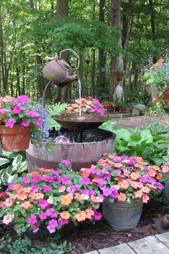 18 Outdoor Fountain Ideas How To Make A Garden Fountain For Your